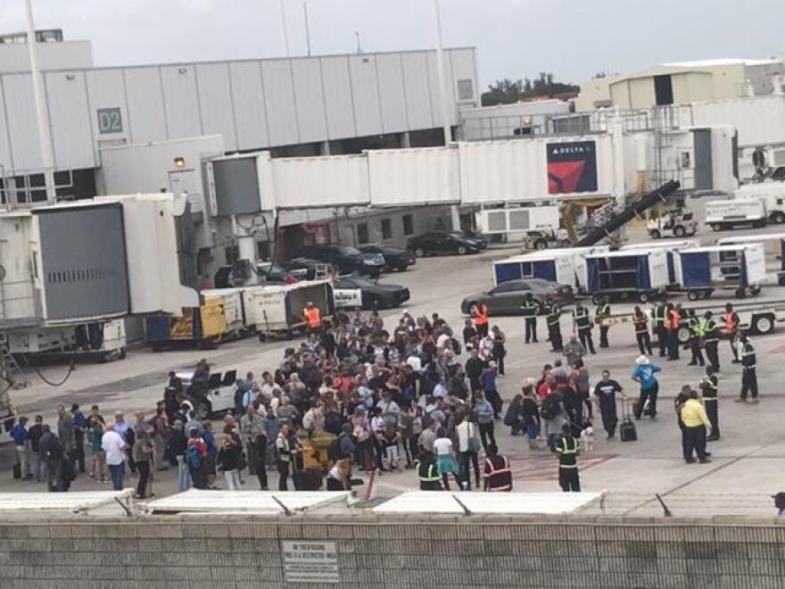 Authorities evacuated several areas of the Fort Lauderdale Airport following the shooting.