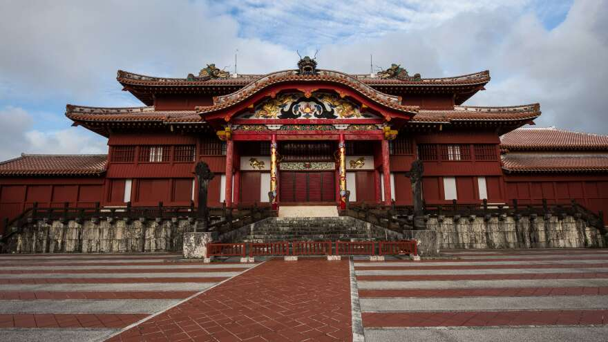 Reconstructed Shuri Castle, Okinawa, Japan.