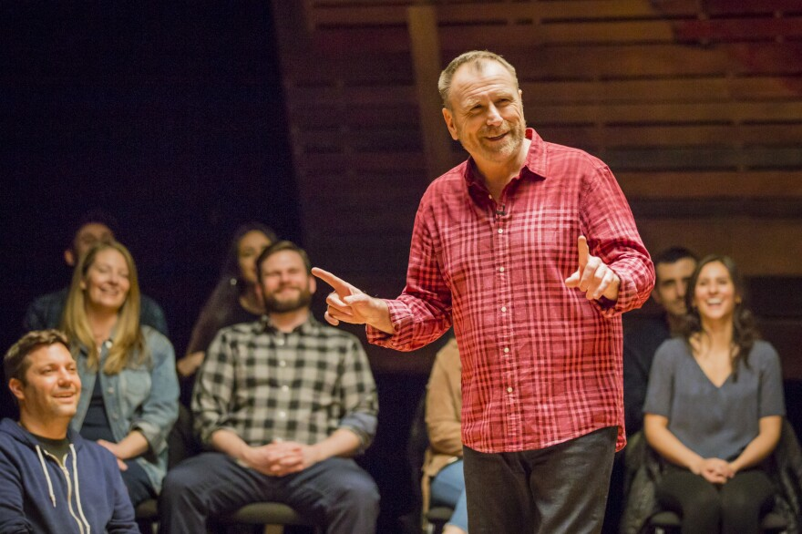 "Colin Quinn says performing on virtual platforms won't ever come close to appearing in a club full of strangers because it lacks ""the tension"" of the live experience. He's writing a book that draws from some of the material he explored in his <em>Red State Blue State </em>special — and says he now has no excuse not to finish it."