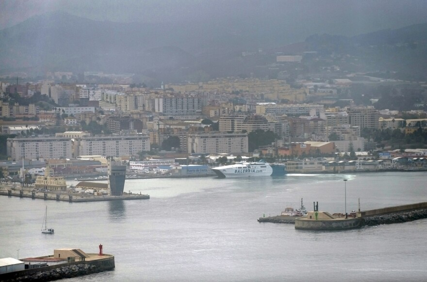The Spanish sea-port of Ceuta on the northern coast of Africa, shown in a general view on Wednesday, was going to allow several Russian warships to refuel there. But after reports that the convoy was bound for the Syria conflict, Spain asked for details on the mission and Russia withdrew the request.
