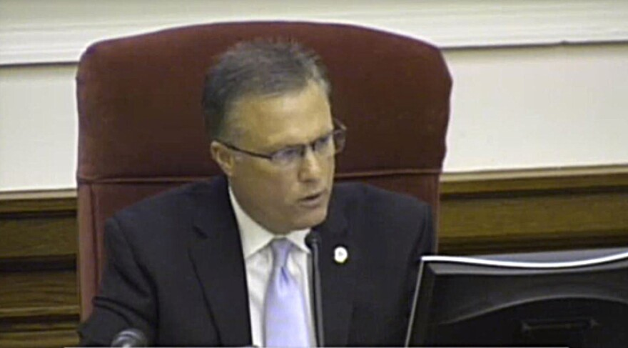 Rowan County Commission Chair Greg Edds gave a lengthy argument for appealing the case.