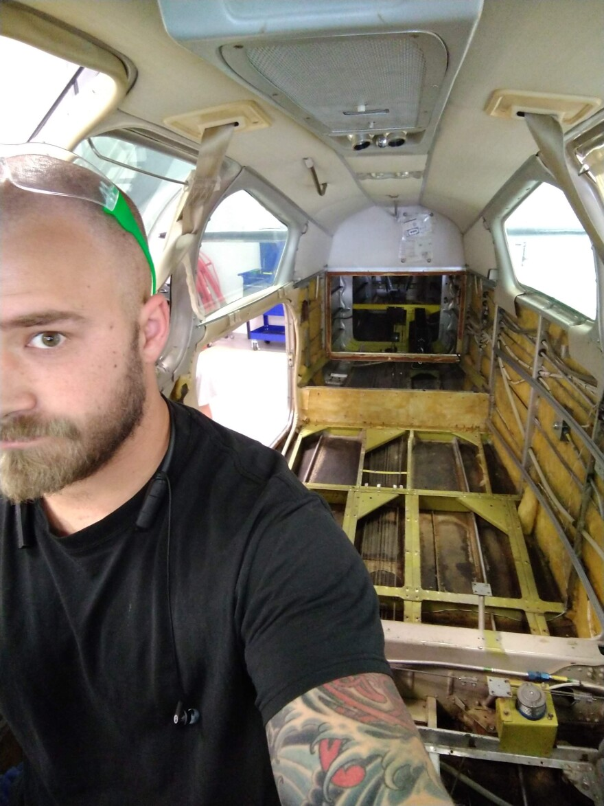 """""""I sort of assumed having a trade would be a pretty safe bet,"""" says Timothy Hasson, who's about to graduate as an aircraft mechanic."""