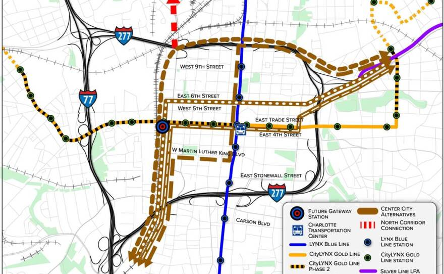 Cats Eyes New Light Rail Bus And Uptown Tunnel Options Wfae 90 7 Charlotte S Npr News Source