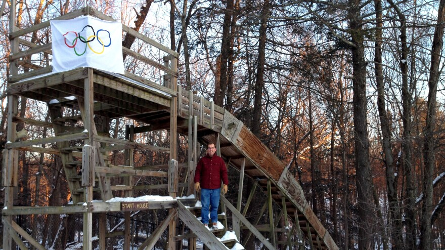 Brett West built this track for his son 12 years ago, after the two watched the 2002 Winter Olympics.