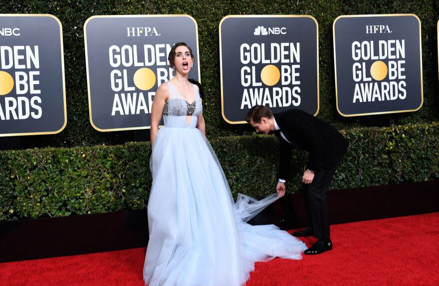 Alison Brie, left, and Dave Franco, right