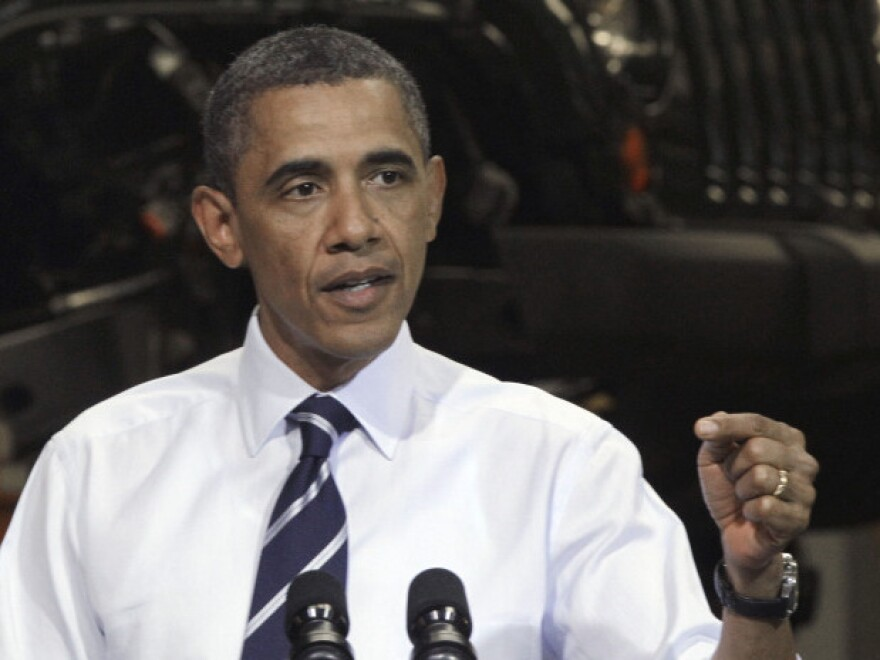 President Barack Obama speaks at Chrysler Group's Toledo Assembly complex on June 3, 2011, in Ohio. Fuel efficiency, gasoline prices and the economy are issues many Americans are concerned with.