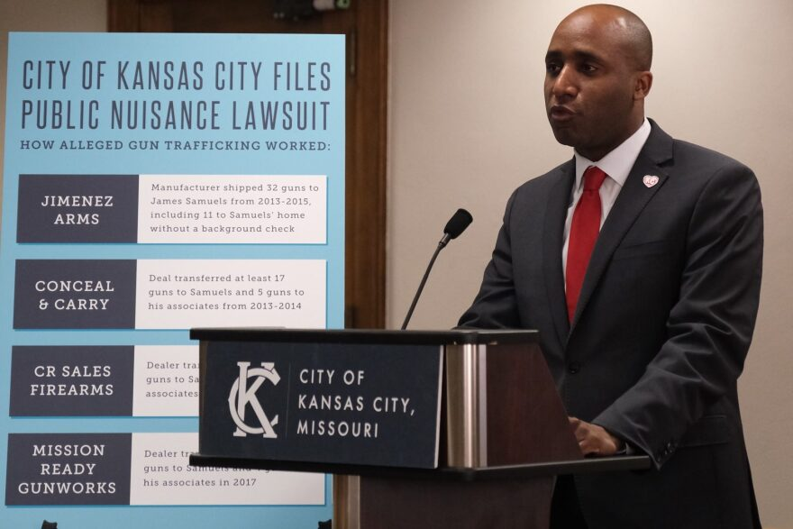 Quinton Lucas, the mayor of Kansas City, Missouri, says the city is suing Jimenez Arms and other defendants for creating a 'public nuisance that has led to crime throughout our community.'