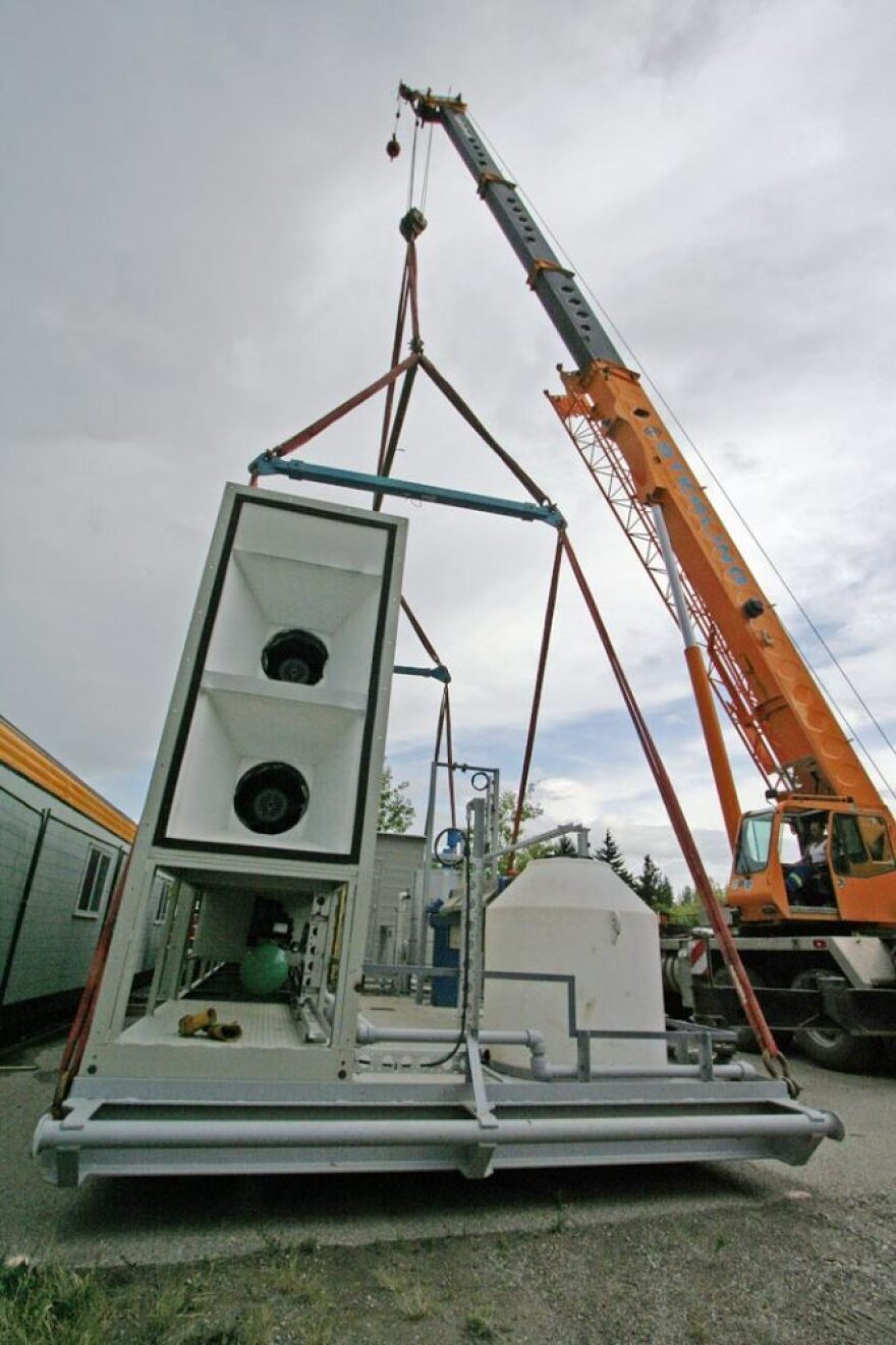 Carbon Engineering's machine, currently under construction, will draw carbon dioxide out of the air and turn it into a usable product.