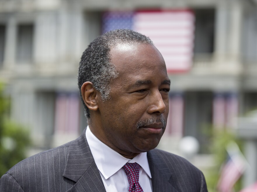 """HUD Secretary Ben Carson said he asked President Trump whether he would be willing to work with Rep. Elijah Cummings to bring relief to Baltimore. Carson says Trump responded he would be """"happy to."""""""