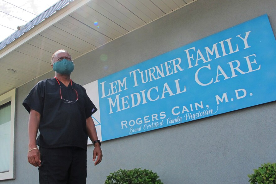 Dr. Rogers Cain's family medical clinic in north Jacksonville has recorded about 60 COVID cases and eight deaths as the virus has run roughshod in Florida. On one July morning, he heard from seven patients before noon who got positive results.