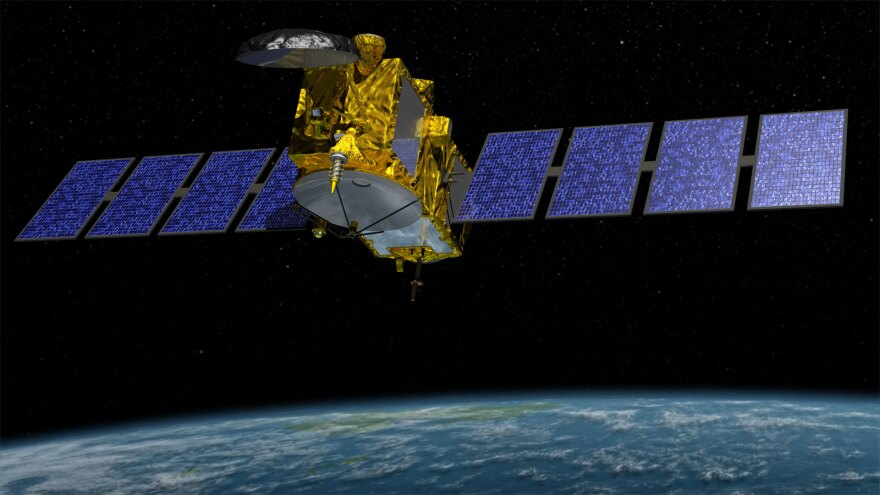 Jason-3 is a satellite that records sea levels for scientific research.