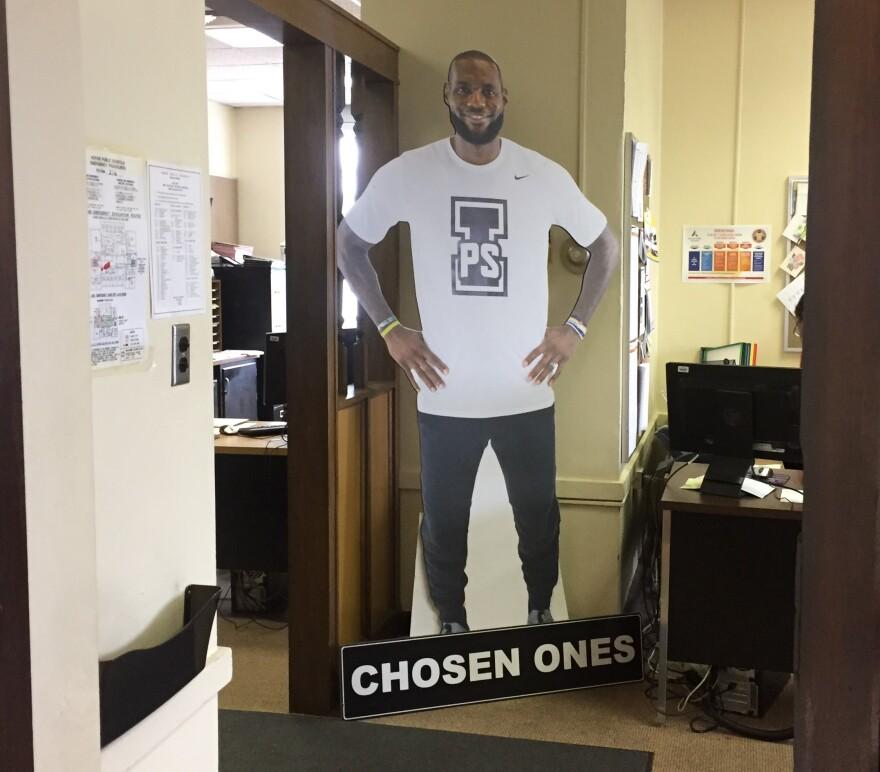photo of LeBron James I Promise cutout
