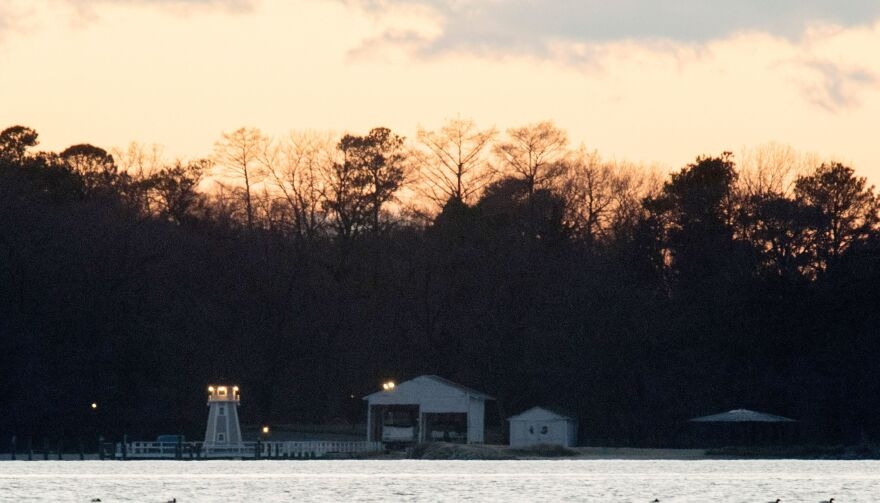 "A dock is seen at a recreational compound owned by the Russian government near Centreville, Maryland on Thursday. The U.S. government said the facility was used ""for intelligence-related purposes."""