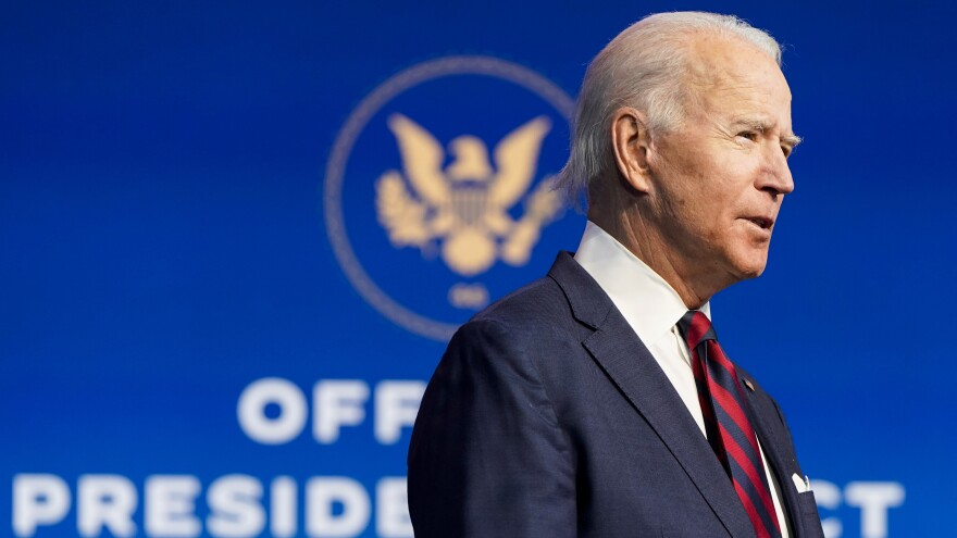 President-elect Joe Biden announced members of his climate and energy appointments at The Queen theater on Saturday in Wilmington, Del.