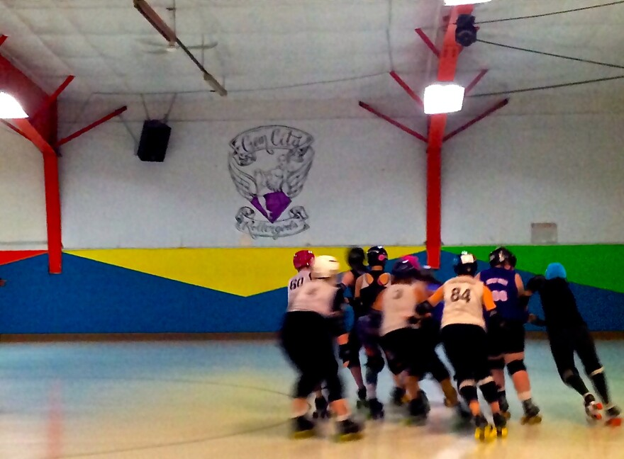 The Gem City Rollergirls hold weekly practices at the Orbit Fun Center in Huber Heights.