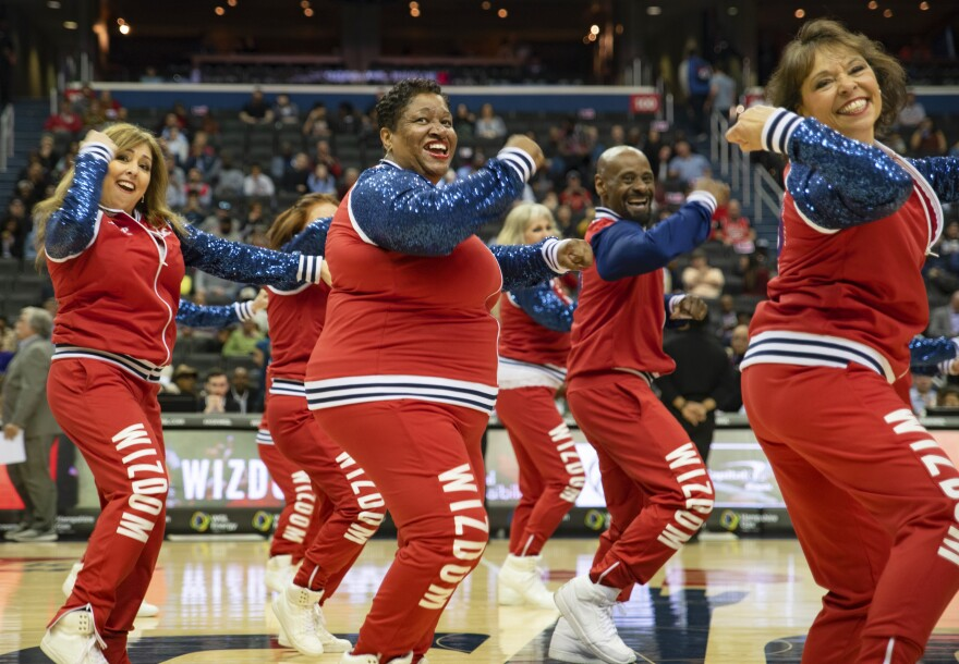 Wizdom dancers perform at the Capitol One Arena in Washington, D.C.