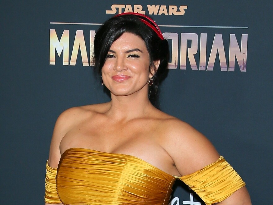 "Gina Carano is no longer part of the cast of ""The Mandalorian,""<em> </em>with Lucasfilm calling her recent social media posts ""abhorrent."""