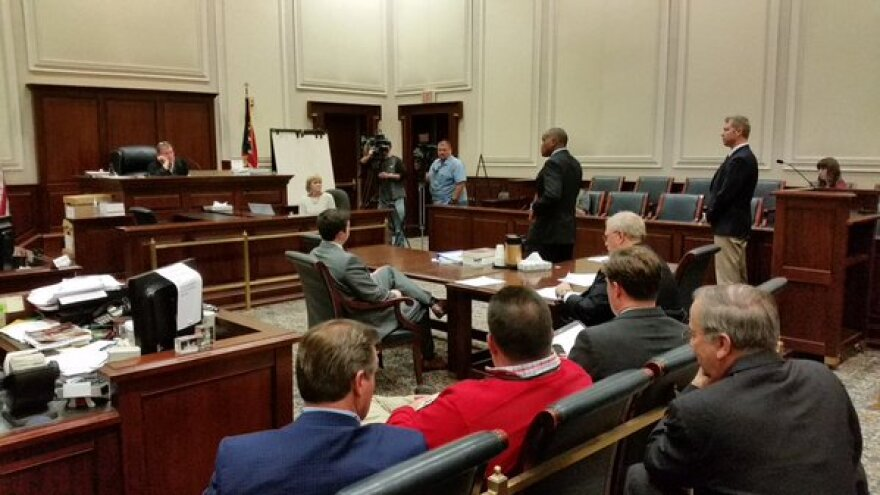 Judge Ruehlman's court room was crowded just hours before polls were supposed to close in Hamilton County. His ruling extended hours until 9 p.m.
