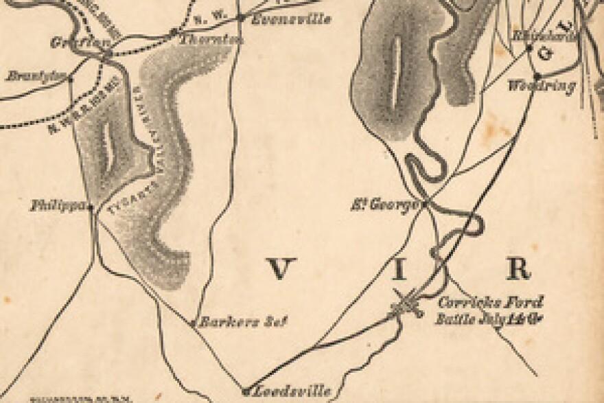 Corricks Ford Map