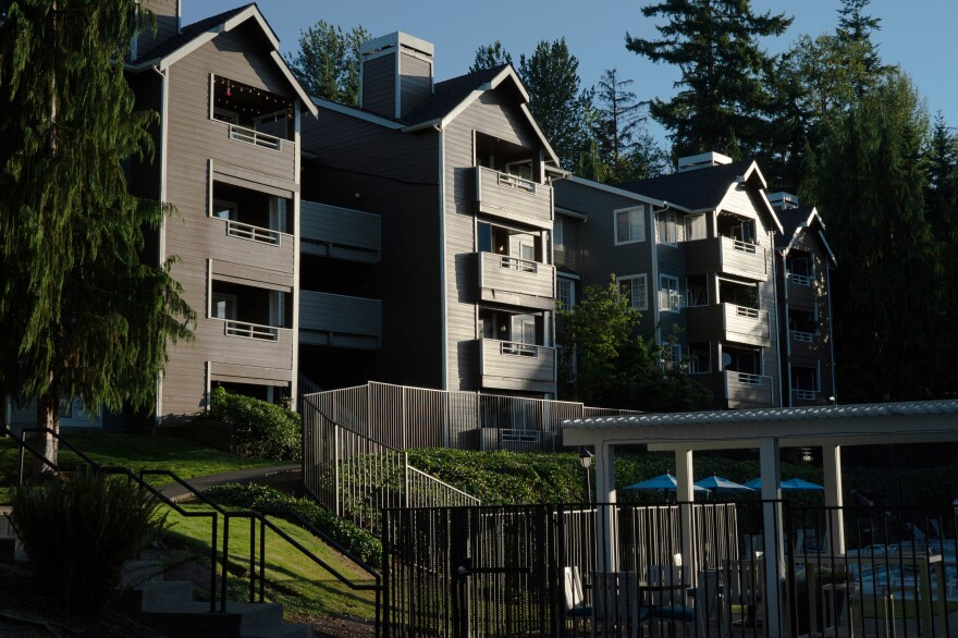 An apartment complex in Bellevue, outside Seattle. The area has been identified as a place where low-income children have grown up to have more successful lives, with higher earnings, more college degrees and fewer teen births.