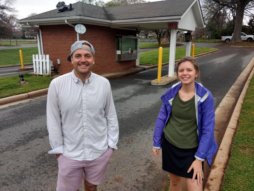 Owner Brian Helfrich and retail director Dora Callahan of Summit Coffee in Davidson are opening a new location in an old drive-through bank.