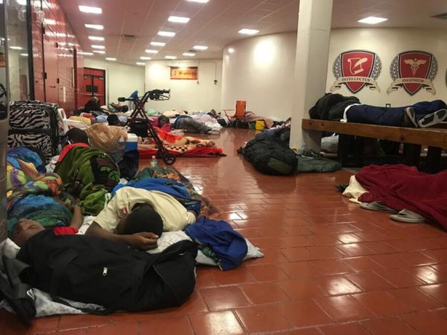 Miami Edison opened as a general population hurricane shelter during Hurricane Irma. Under Miami-Dade's emergency management plan, those shelters don't provide cots. Some special needs shelters do, as well as emergency centers that openafter hurricanes.