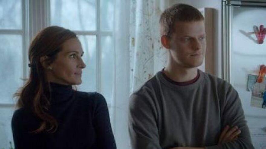 Hey-La, Hey-La: Holly (Julia Roberts) keeps a watchful eye on her son Ben (Lucas Hedges) in <em>Ben is Back.</em>