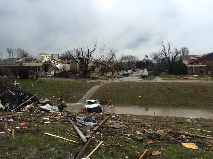 Rowlett was among the hardest-hit areas from Saturday night's storms.