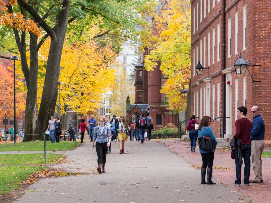 Harvard University in Cambridge, Mass., and other campuses across the country are starting to fill up with students for the new academic semester.