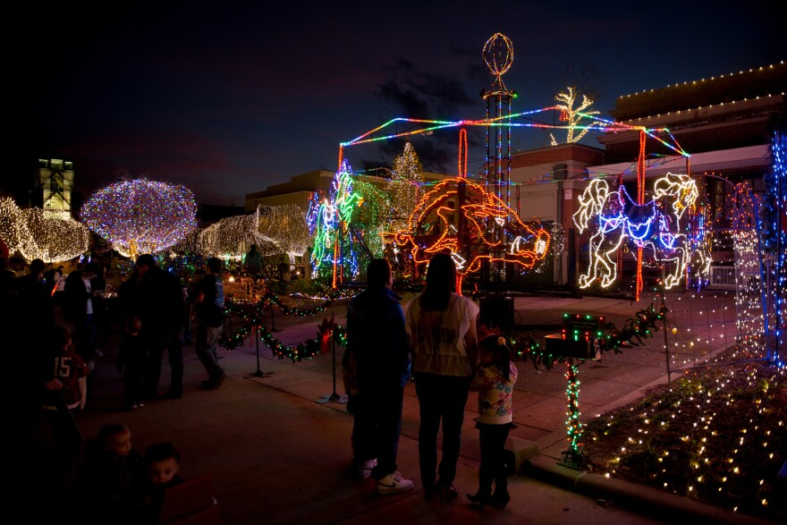 Christmas lights in Fayetteville.