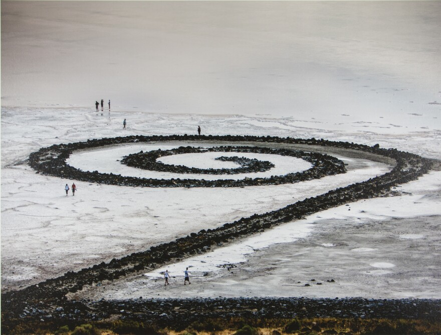 Photo of the spiral jetty