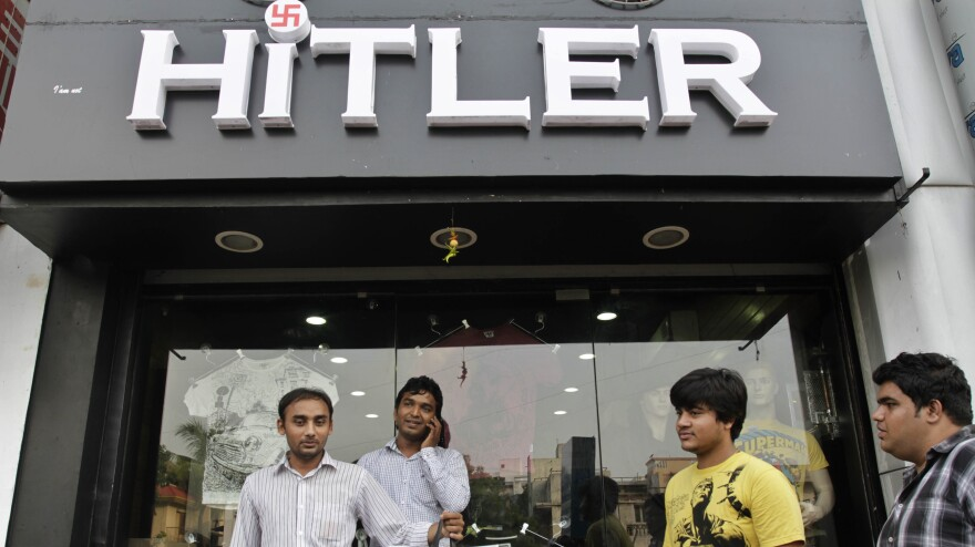 A clothing store in Ahmadabad, India, sparked controversy earlier this year, as reporter David Shaftel reports in <em>Bloomberg Businessweek</em>. The city tore down the store's name in October, flummoxing the owners who refused to change it.