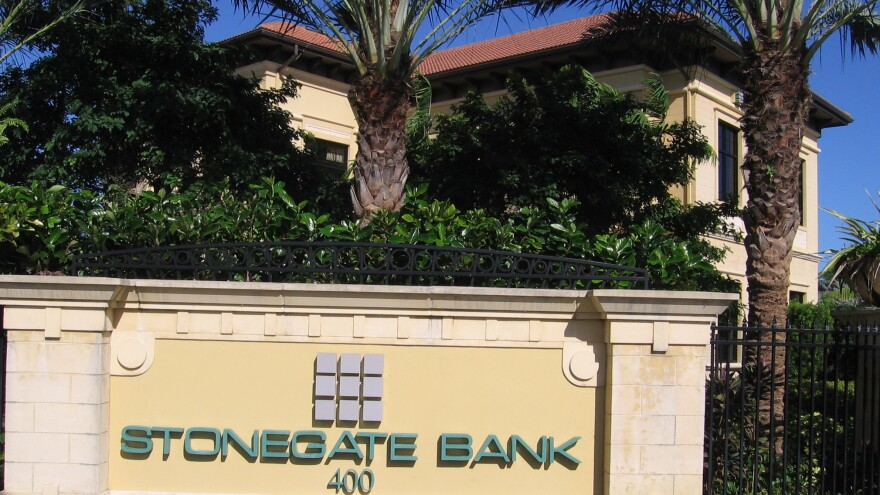 Stonegate Bank's Pompano Beach, Fla., location, shown here, announced it is setting up a correspondent banking relationship with a Cuban financial institution.