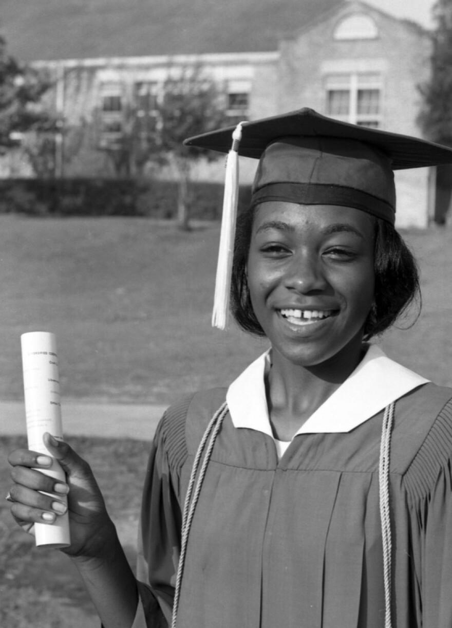 Lincoln High Valedictorian Leatrice White in 1966.