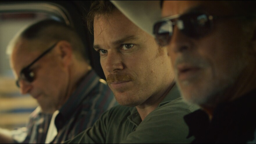 Sam Shepard (Russell), Michael C. Hall (Richard Dane), and Don Johnson (Jim Bob) find themselves unexpectedly working together in <em>Cold In July</em>.