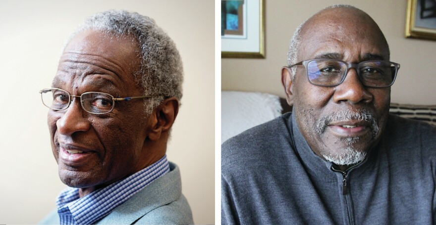 Howard Fuller (left) is one of the architects of the voucher program in Milwaukee; Wendell Harris led early opposition to vouchers.