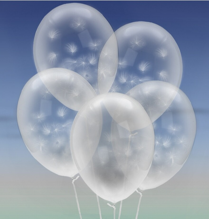 Mockup of the milkweed balloons