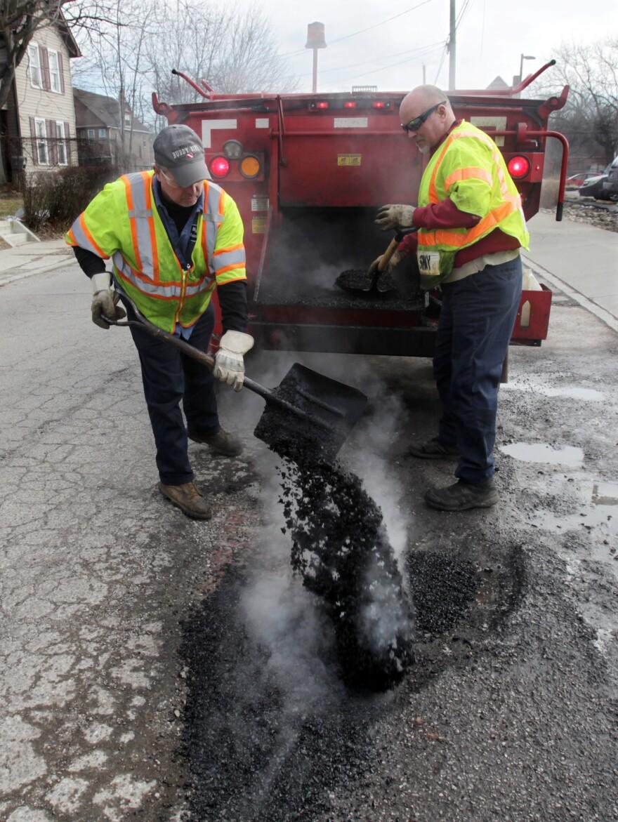 photo of pothole repairs