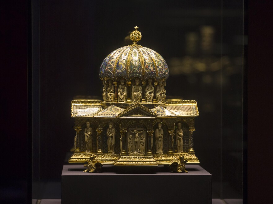 The medieval Dome Reliquary (13th century) of the Guelph Treasure is displayed at the Bode Museum in Berlin. It's part of collection of priceless artwork that finds itself at the center of a legal argument at the Supreme Court.