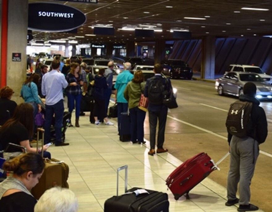 Crowded terminal at Tampa International Airport
