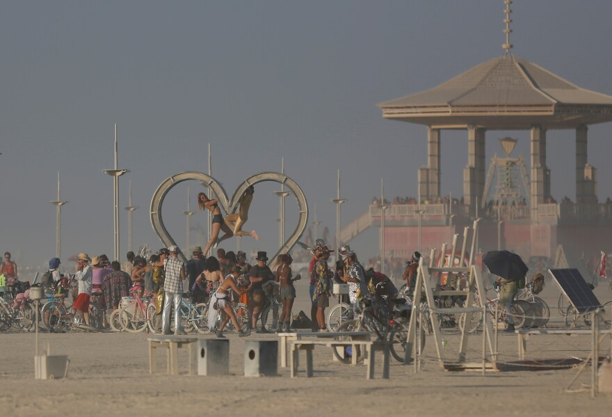 In September 2017, about 70,000 people from all over the world gathered for the annual Burning Man arts and music festival in Nevada's Black Rock Desert.