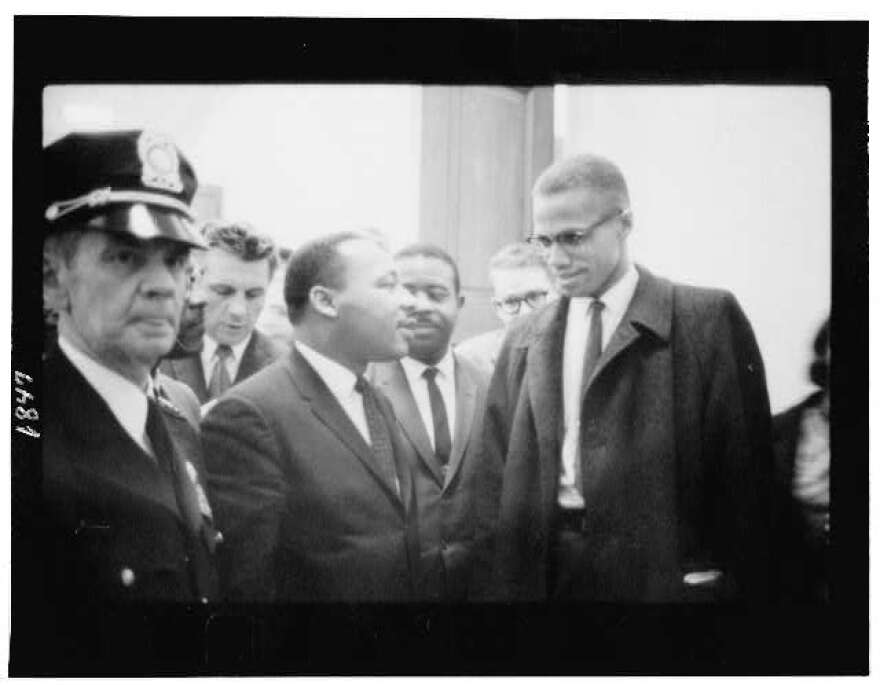 Martin Luther King Jr. and Malcolm X cross paths as the U.S. Senate debated the Civil Rights Act of 1964 on March 26, 1964. It was the only time the two men met.
