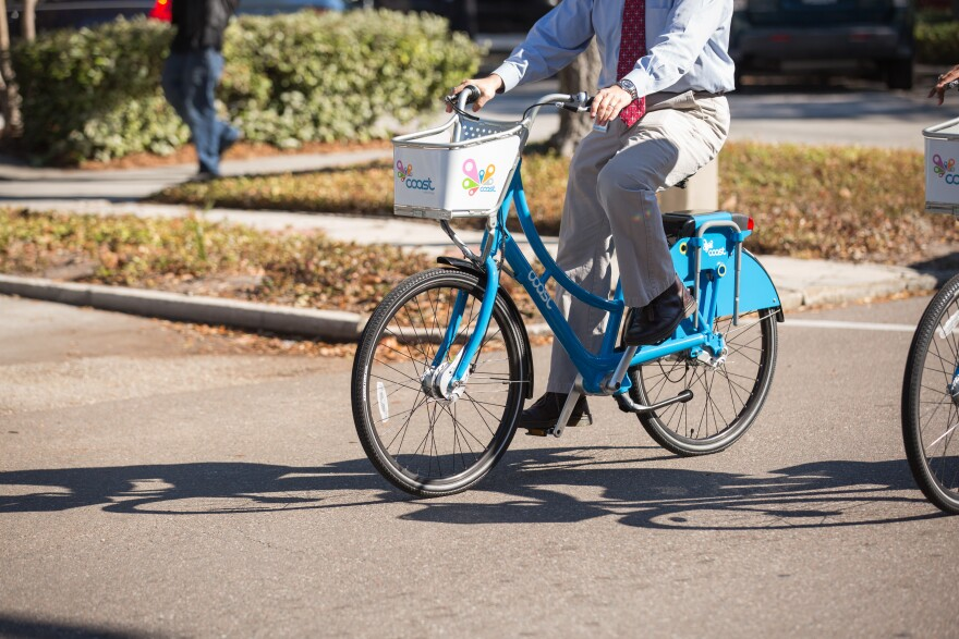 """St. Louis is accepting applications for a company to operate a """"dockless"""" bike share system in the city. Officials hope a service will be operating some time this year."""