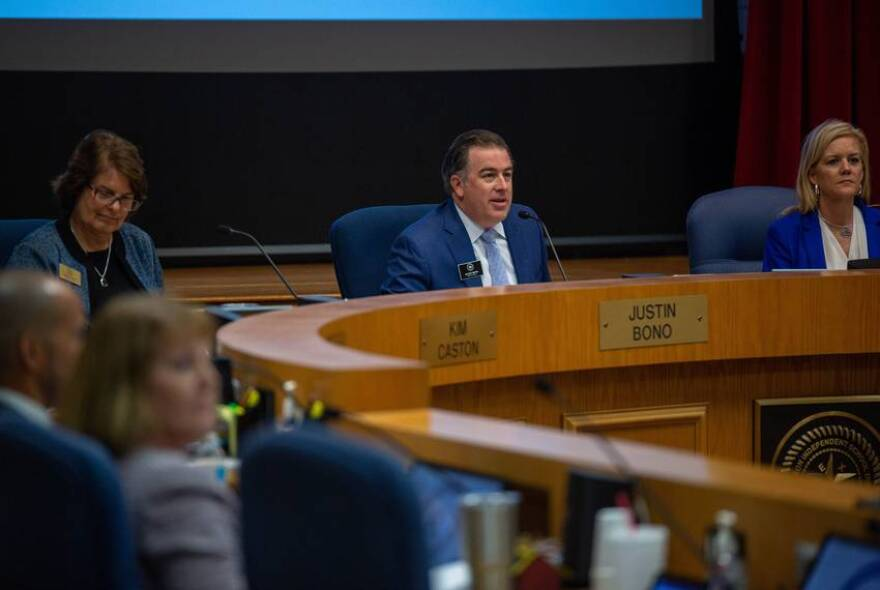 Justin Bono, Richardson ISD's board president, lives in a mostly white area of the school district, within a three-minute drive of two other board members.