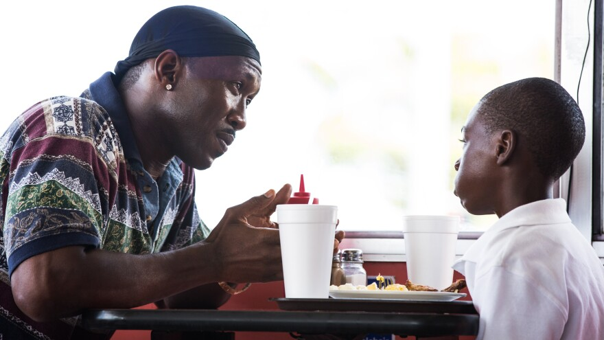 Mahershala Ali and Alex Hibbert in <em>Moonlight, </em>one of Bob's picks for best of the year.