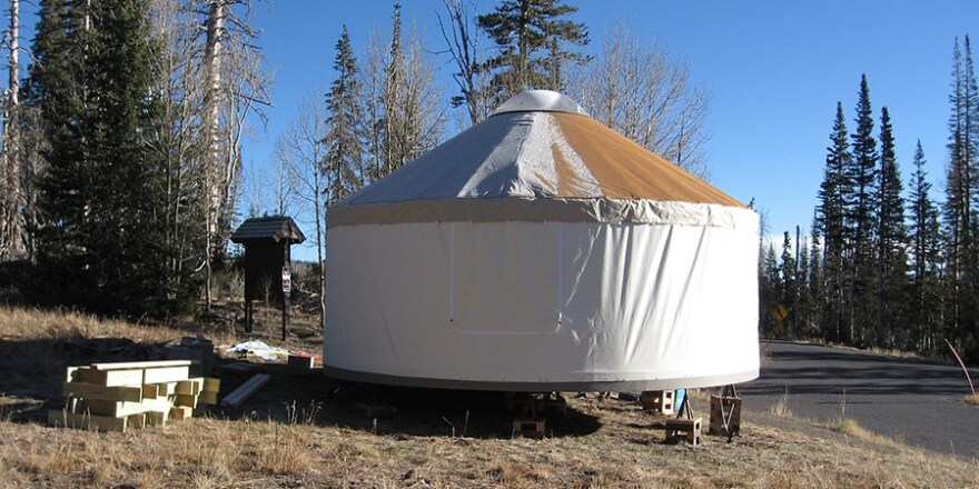 Photo of a yurt