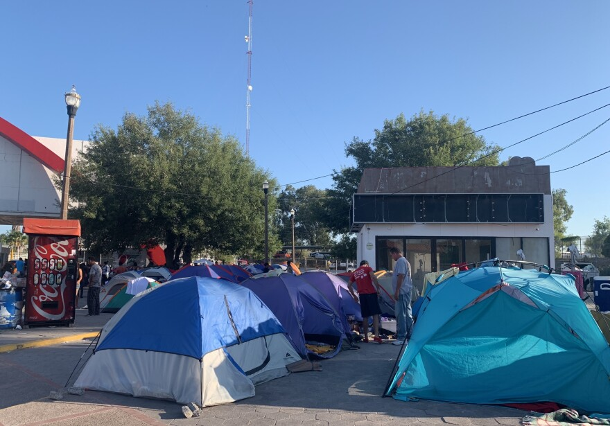 In the border town of Matamoros, Mexico, asylum-seekers camp out as they wait for their day in U.S. immigration court.