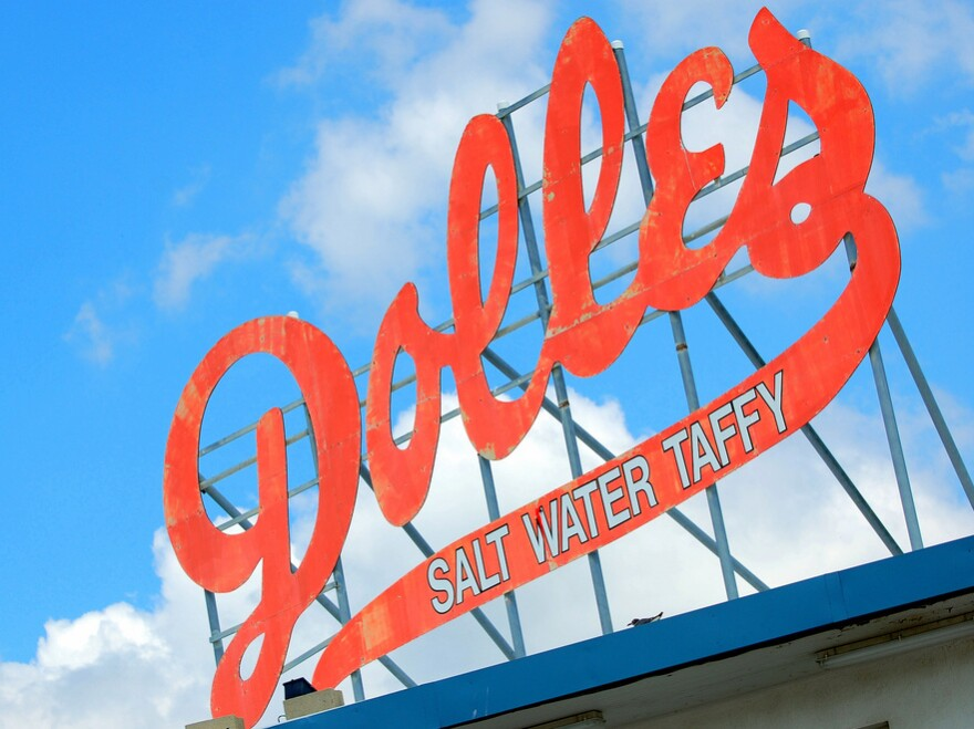 The Dolle's sign is part of the magic of the boardwalk at Rehoboth Beach in Delaware.
