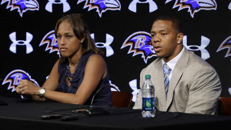 Baltimore Ravens running back Ray Rice was suspended by the NFL for two games this season after an incident in which he assaulted his then-fiancee, Janay Palmer.