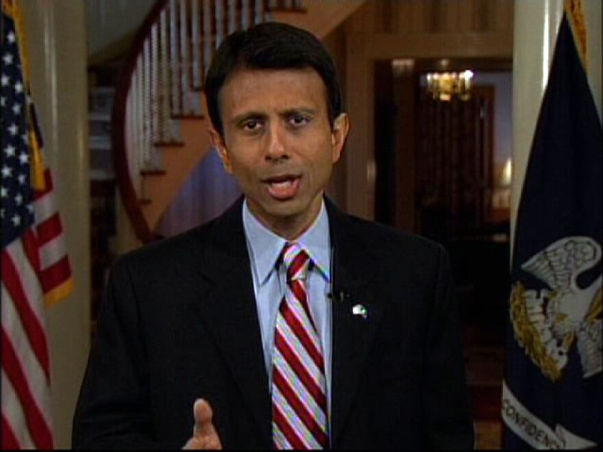 Louisiana Gov. Bobby Jindal delivered the GOP response in 2009 from the governor's mansion in Baton Rouge, La.